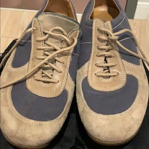 Suede Prada sneakers
